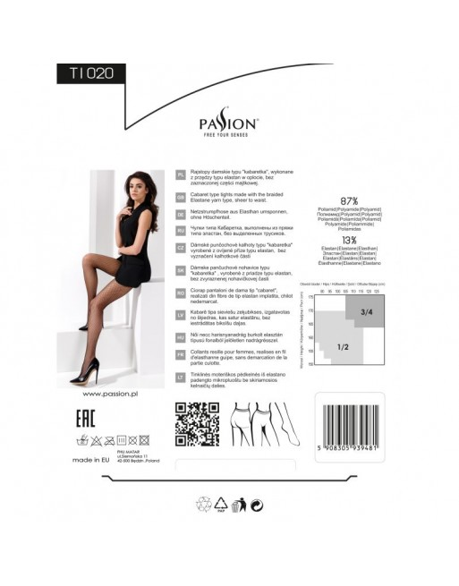 TI020 Collants Résille - Blanc