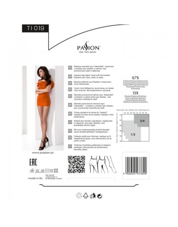 TI019 Collants Résille - Noir