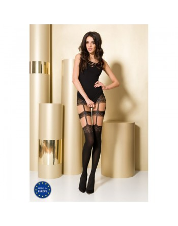 TI100 Collants 50/20 DEN - Noir et Gris