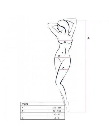 BS074W Bodystocking - Blanc