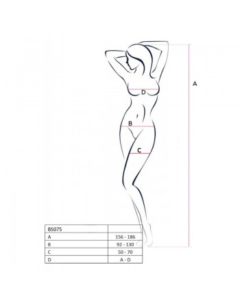 BS075R Bodystocking - Rouge