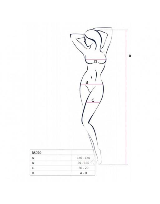 BS070B Bodystocking - Noir