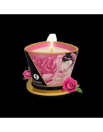 Bougie de massage lueur et caresses - Aphrodisia Rose