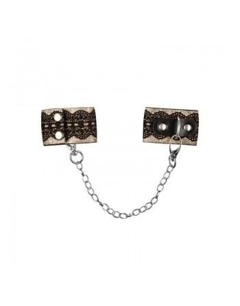 A746 Menottes avec chaîne - Noir